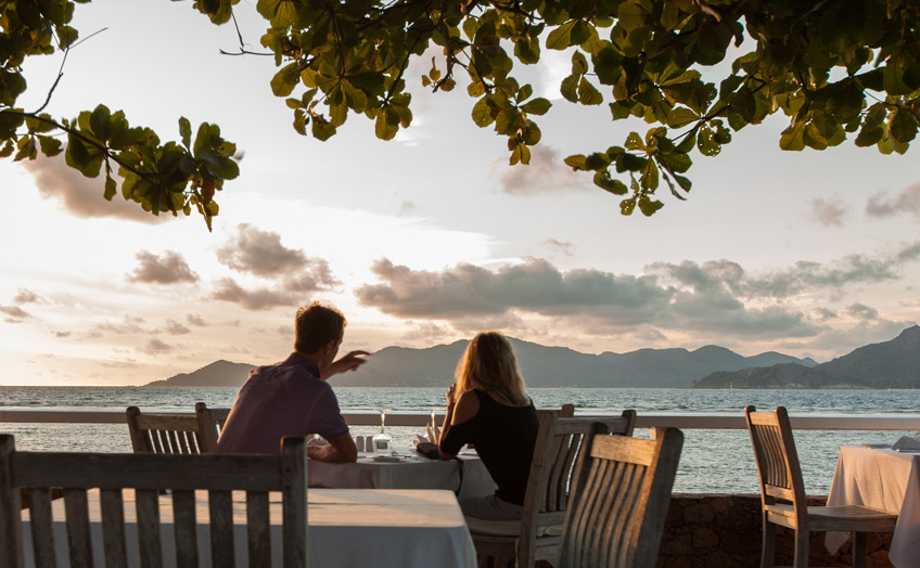 La Digue Island Lodge, отель, закат,