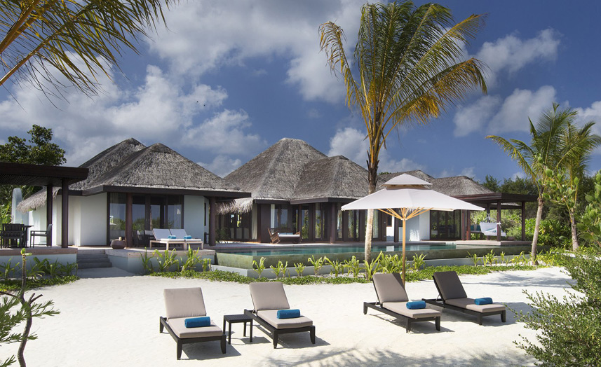 Отель Anantara Kihavah Villas. 3-Bedroom Beach Pool Residence.