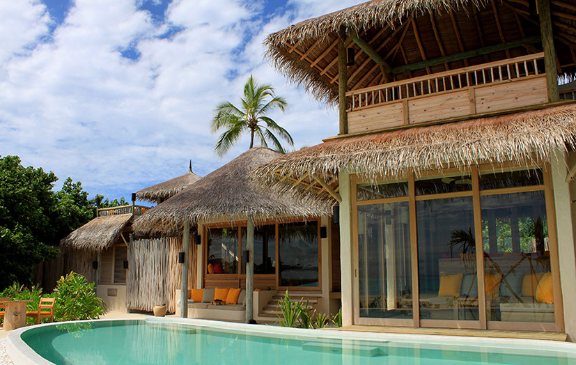 Отель Six Senses Laamu. 2-Bedroom Lagoon Beach Villa with Pool. Внешний вид виллы.