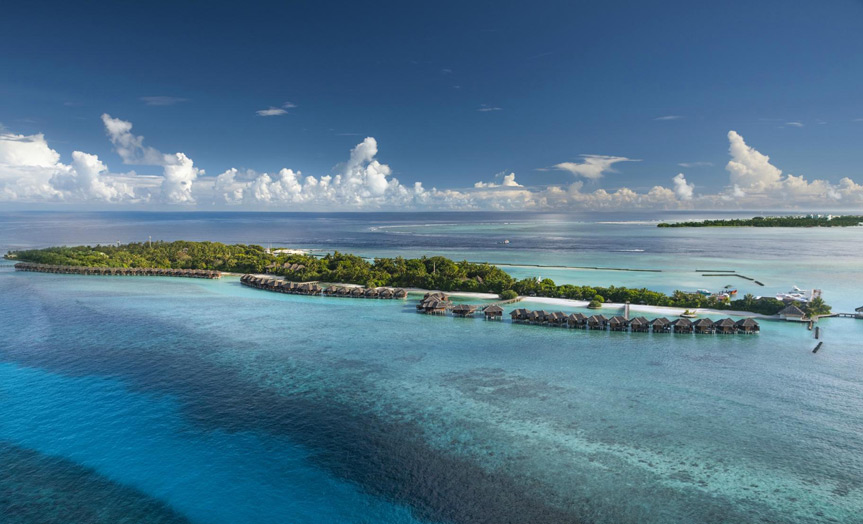 Отель Sheraton Maldives Full Moon Resort & Spa. Остров.