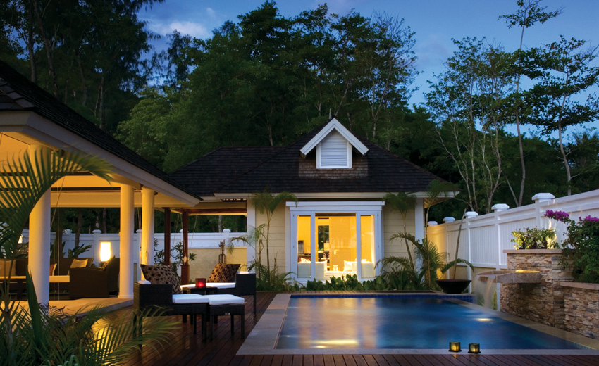 Banyan Tree Seychelles Two-Bedroom Double Pool Villa бассейн зона отдыха