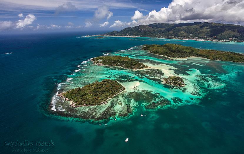 остров Маэ с высоты птичьего полета