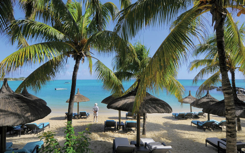 Пляж отеля Beachcomber Royal Palm