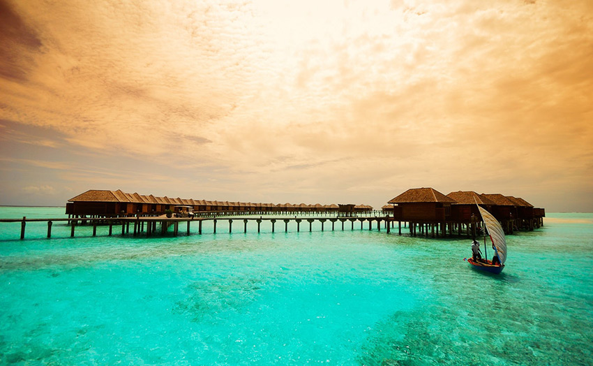 Отель Olhuveli Beach Spa Maldives водные виллы