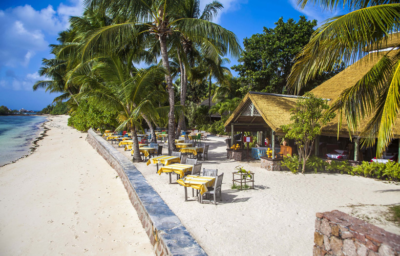 отель La Digue Island Lodge ресторан
