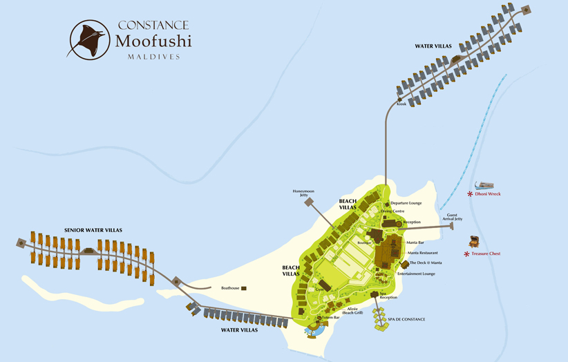 План отеля Constance Moofushi Resort map