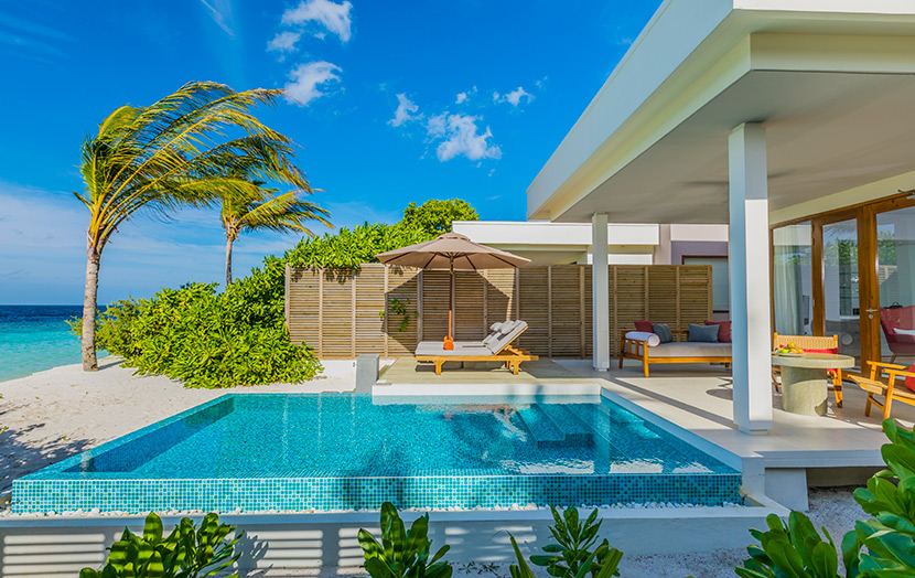 Отель Dhigali Maldives Beach Pool Villas