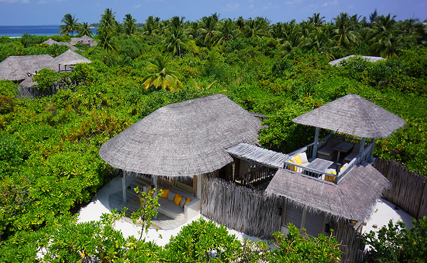 Отель Six Senses Laamu. Ocean Beach Villa. Внешний вид.