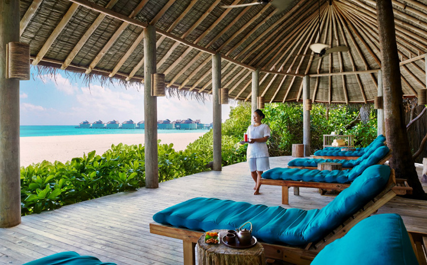Отель Six Senses Laamu. Спа-центр. Зона релаксации.