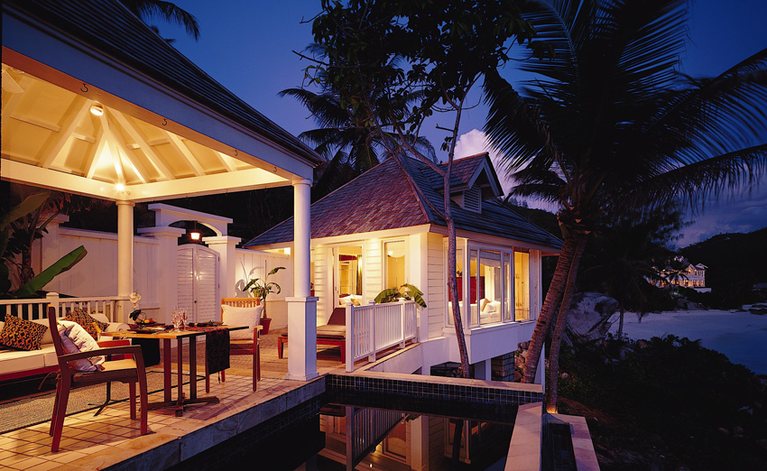 Banyan Tree Seychelles Ocean View Pool Villa терраса бассейн