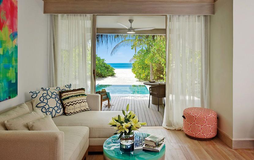 Вилла на пляже, отель Kanuhura Maldbves