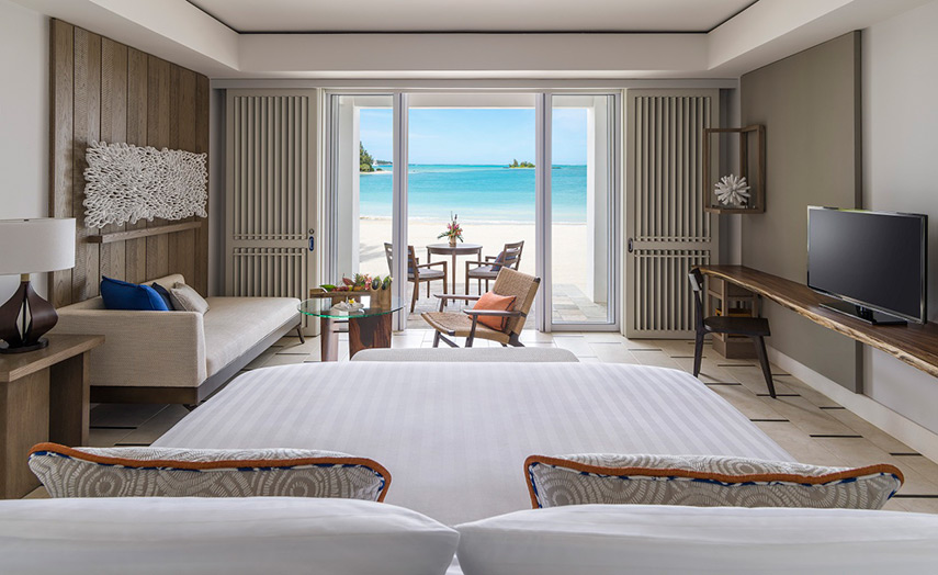 Отель Shangri-La's Le Touessrok Resort & Spa. Номер Hibiscus Junior Suite Beach Access.