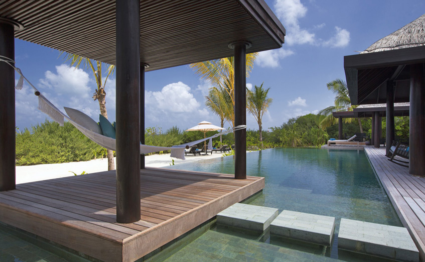 Отель Anantara Kihavah Villas. 2-Bedroom Beach Pool Residence.
