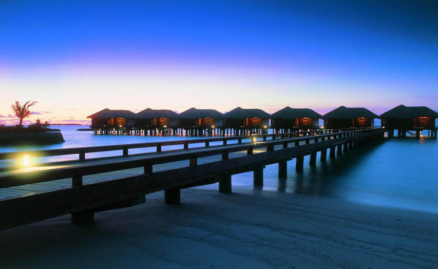 Отель Sheraton Maldives Full Moon Resort & Spa. Water Bungalow.