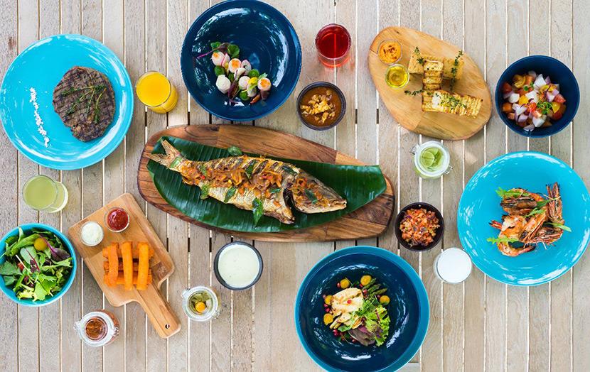 Блюда в отеле на Мальдивах