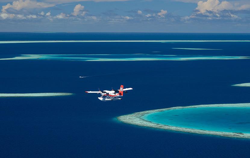 Полет на гидросамолете Мальдивы