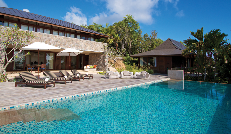 Four Seasons Resort Seychelles, отель, вилла, Three-Bedroom Residence Villa,