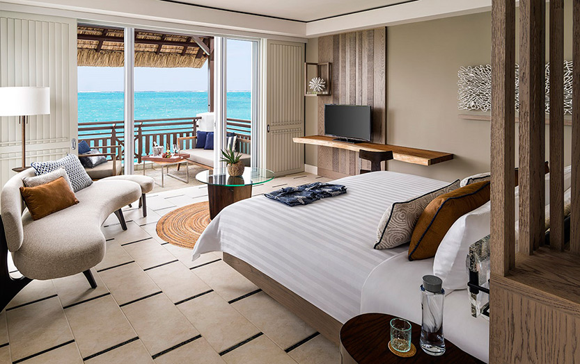 Отель Shangri-La's Le Touessrok Resort & Spa. Номер Frangipani Junior Suite Ocean View.