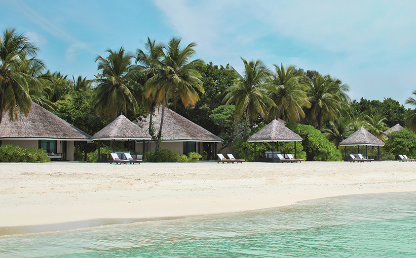 Отель Kihaad Maldives. Вилла Sunset Prestige Pavillon Beach Villa.