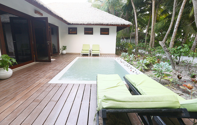 Отель Kihaad Maldives. Вилла Garden Villa With Pool.