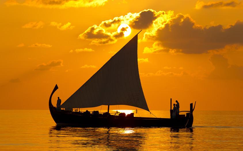 Экскурсии на Мальдивах - круиз на закате